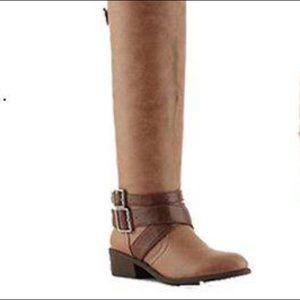 ALDO riding suede boots.